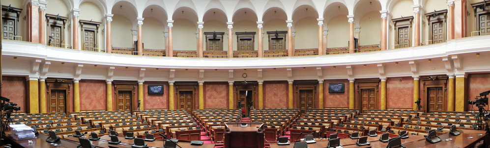 Interior of the Serbian parliament