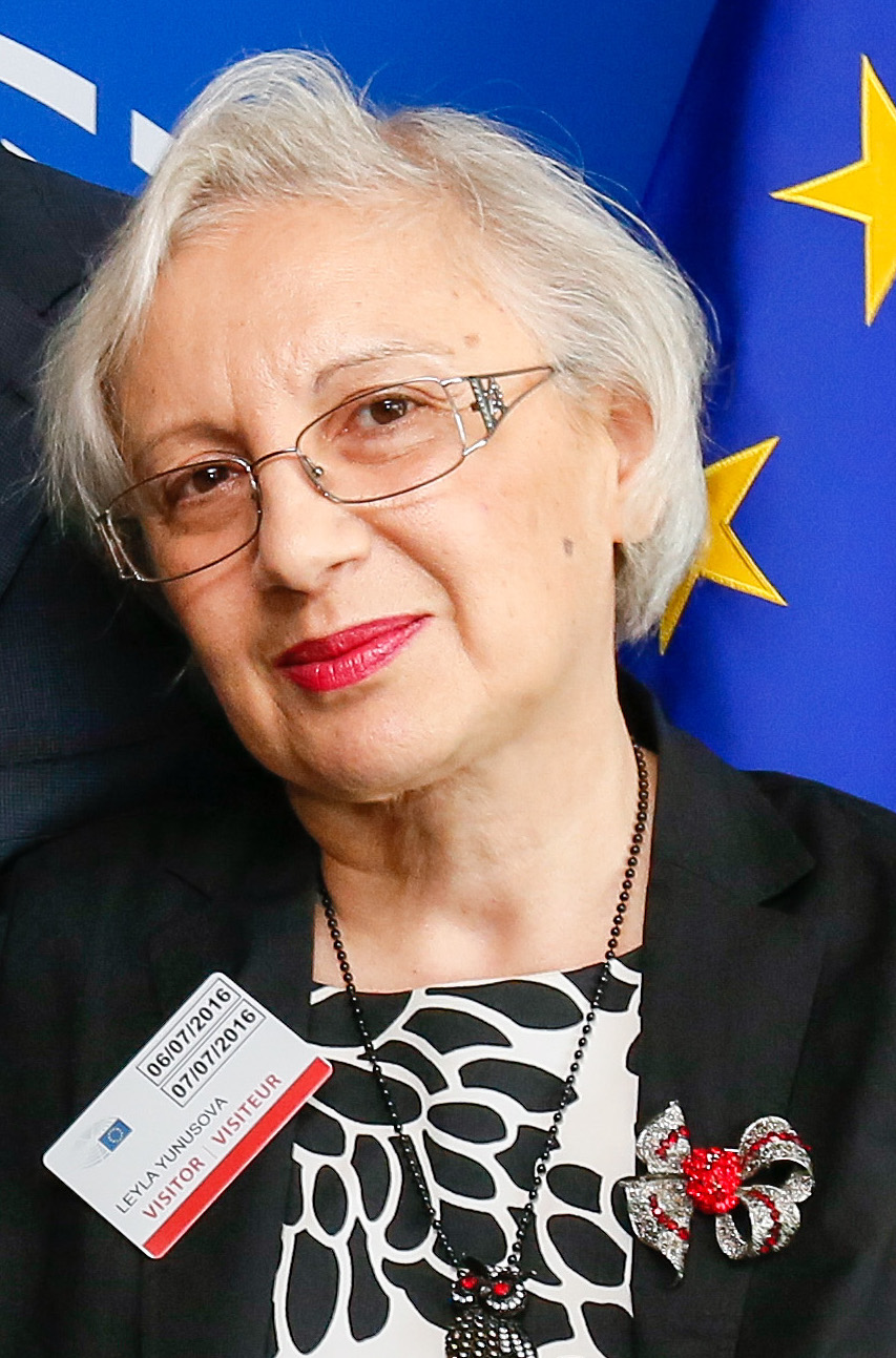 Photo of Leyla Yunus when she visited the European Parliament in 2016