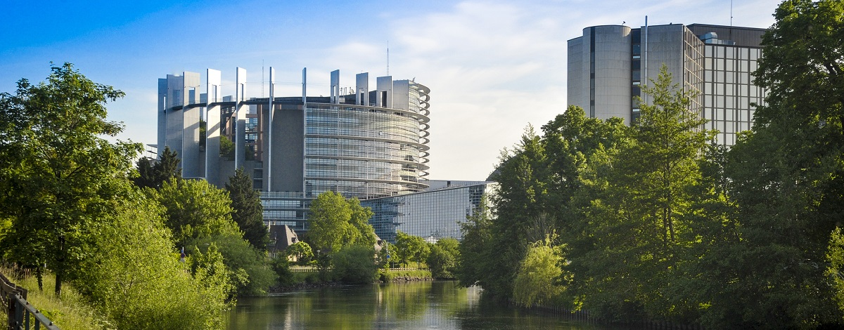 View of the Parliament in Strasbourg