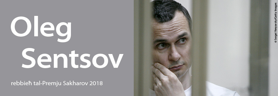 Oleg Sentsov, rebbieħ tal-Premju Sakharov 2018